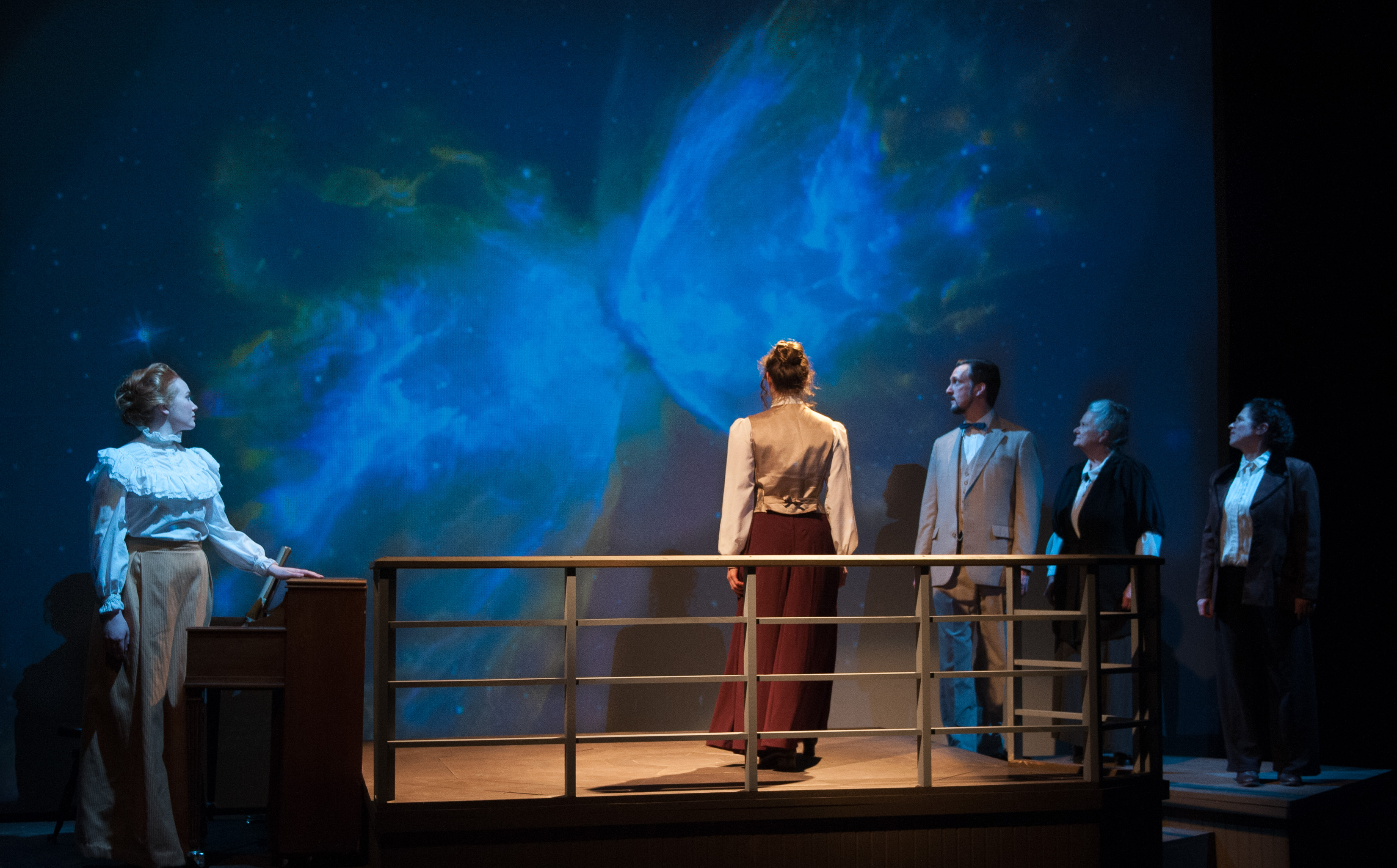 final moment Silent Sky at Lost Nation Theater - photo by Robert Eddy First Light Studios