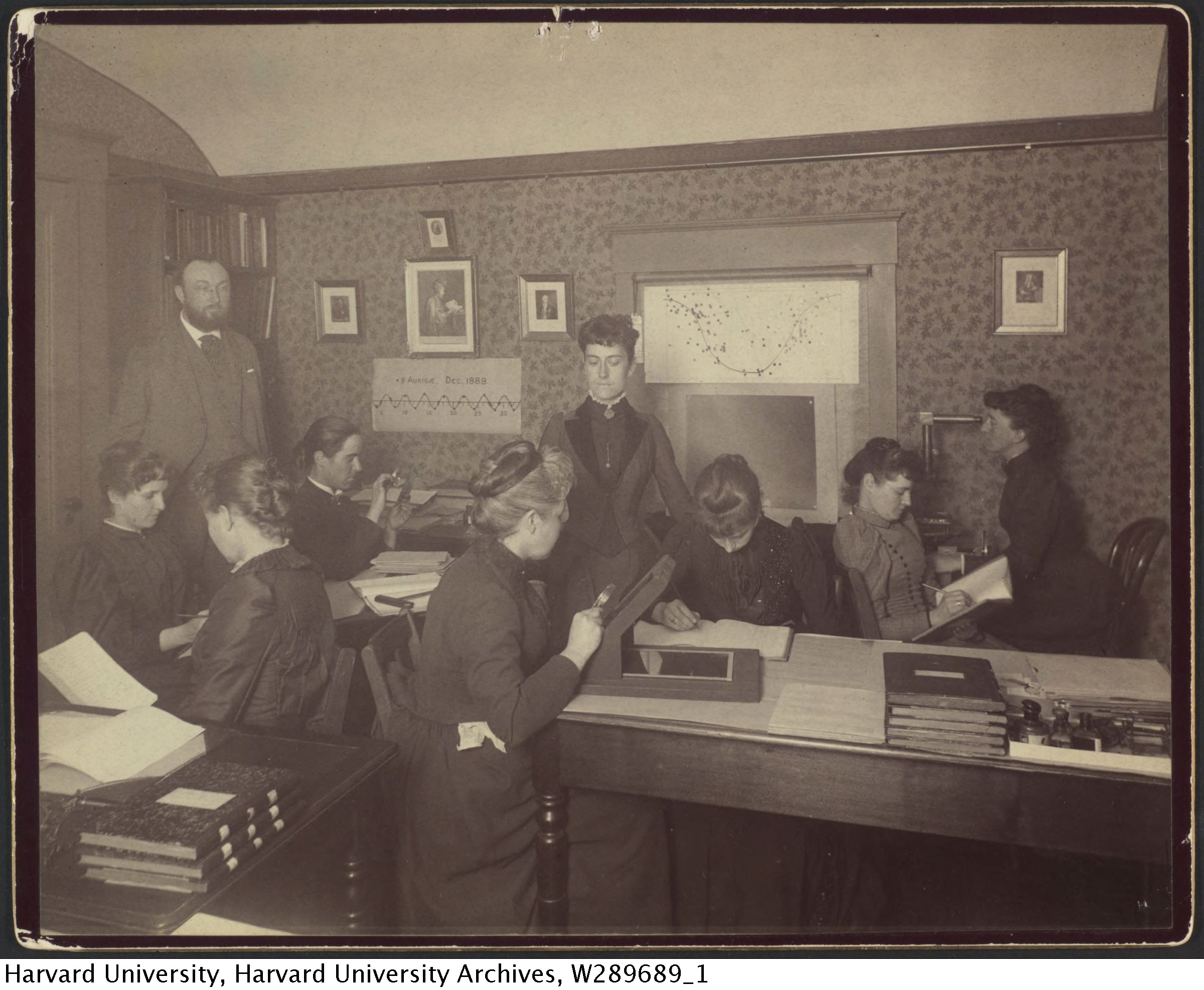 women mathematicians & scientists  -AKA 'computers'- in early 1900's at Harvard Observatory