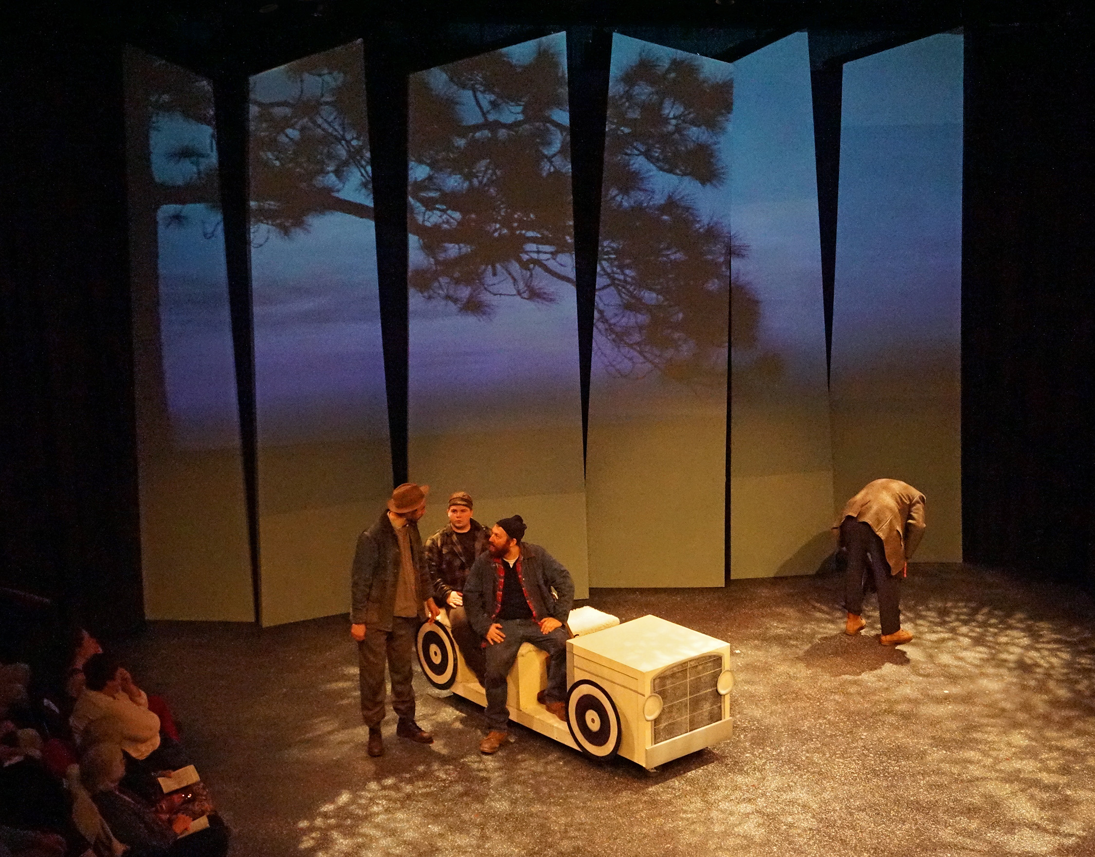 Mike Furey captures a rare quiet moment in Howard Frank Mosher's  DISAPPEARANCES adapted for stage by Kim Allen Bent for Lost Nation Theater
