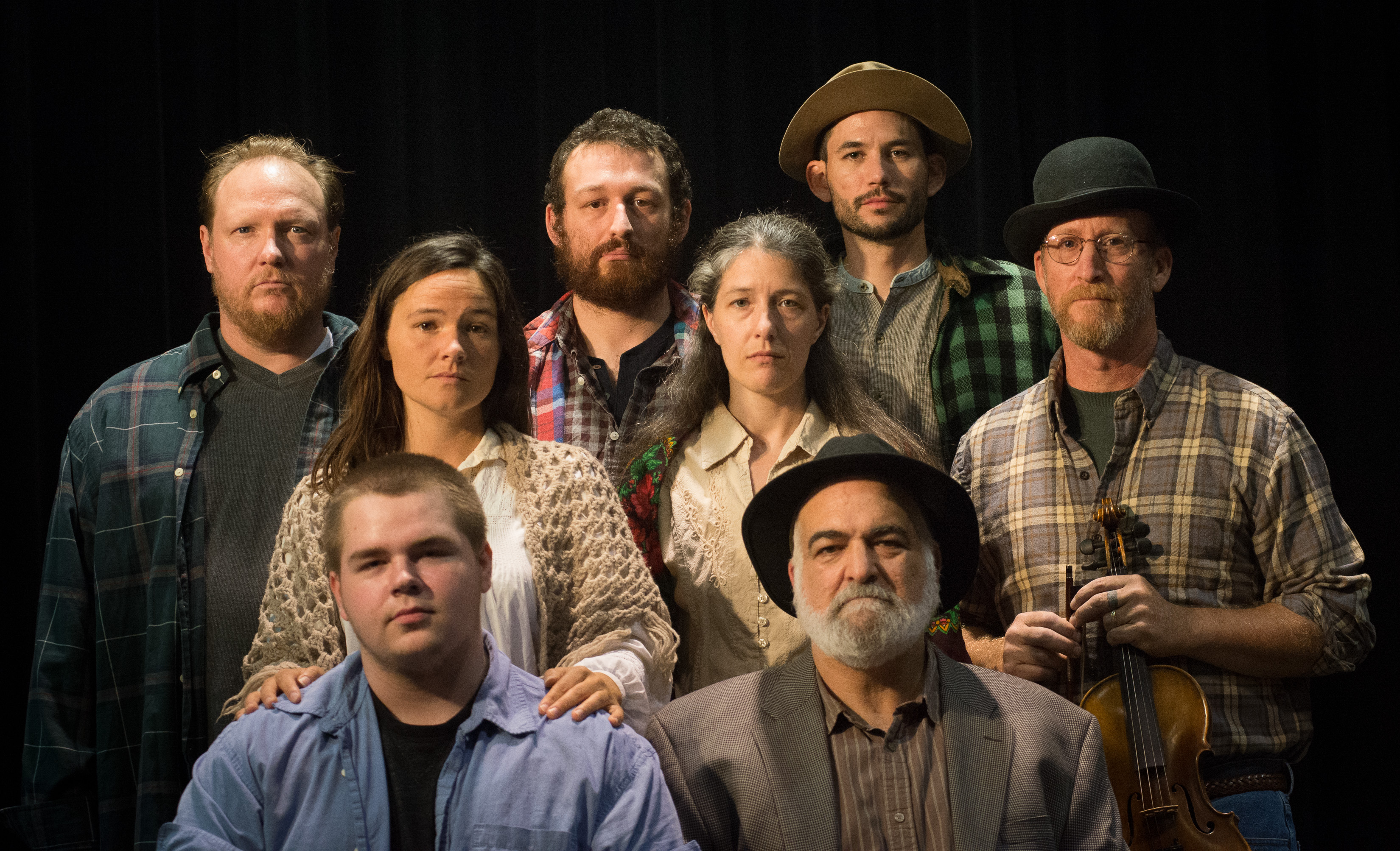 Portrait of the cast of LNT's Disappearances, by Robert Eddy, First Light Studios
