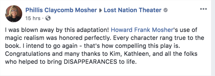phillis mosher's review on Facebook