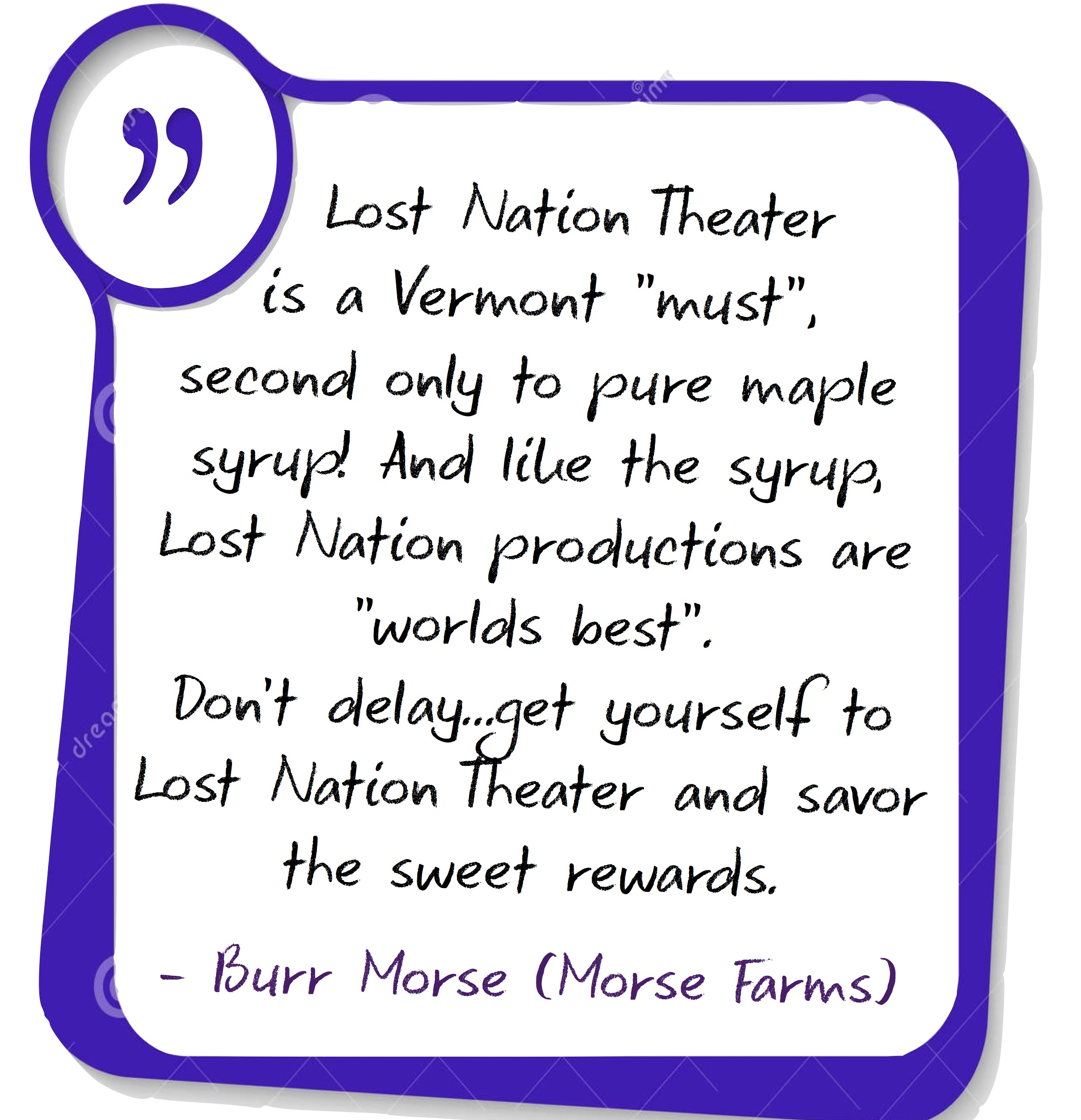 quote from Burr morse